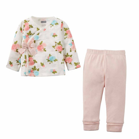 Floral Muslin 2 pc Set Baby Girl Outfit