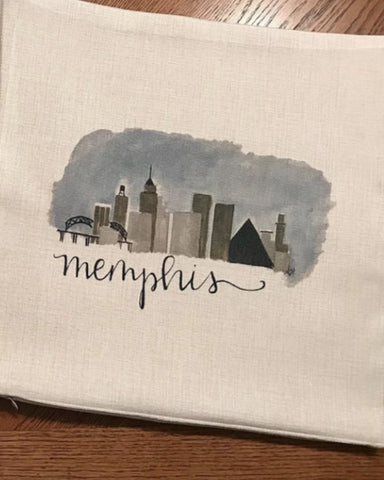 Memphis Skyline Tee by Lindy Tate short sleeved