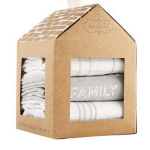 Set of 3 Family Home Hand Towel Set