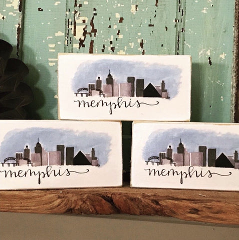 Memphis Skyline block by Lindy Tate