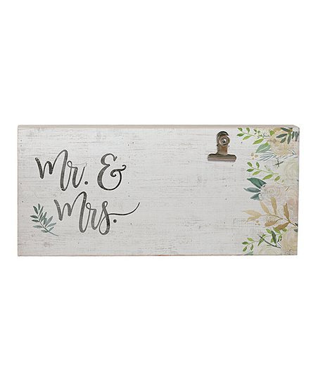 Mr & Mrs Wall Sign