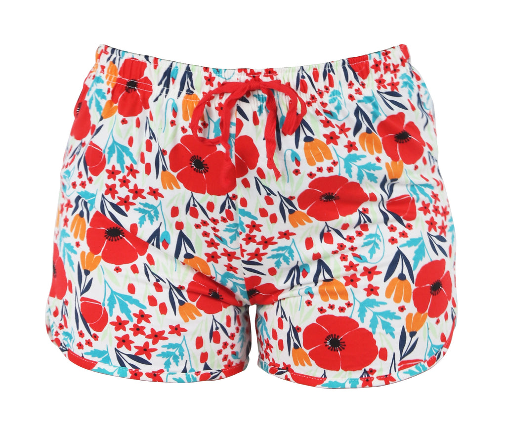 Lounge Shorts Field of Dreams -Red Hello Mello