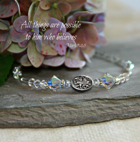 All Things Possible Crystal Bracelet