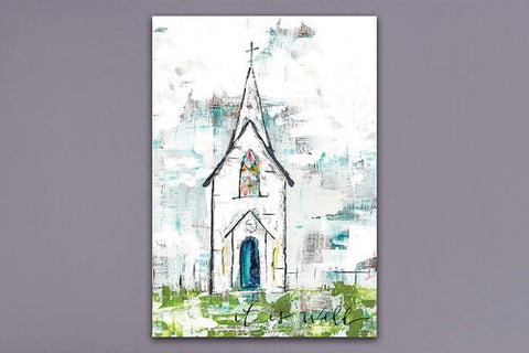 Church  Canvas It Is Well  7x10
