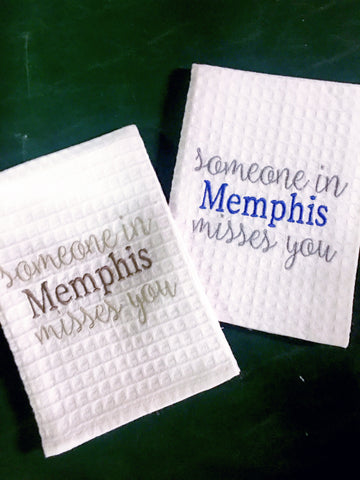 Someone in Memphis Misses you Kitchen Towel