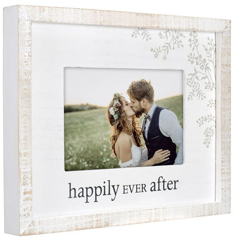 """Happily Ever After"" Rustic Photo Frame"