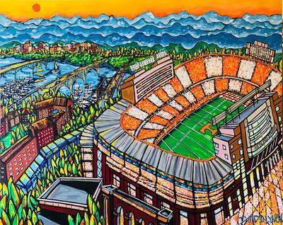 #78 NEYLAND STADIUM UT PRINT UNIVERSITY TN BY DAVID LYNCH