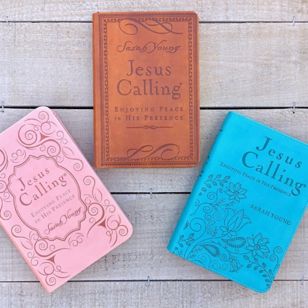 Jesus Calling Leather Cover 365 Daily Devotional