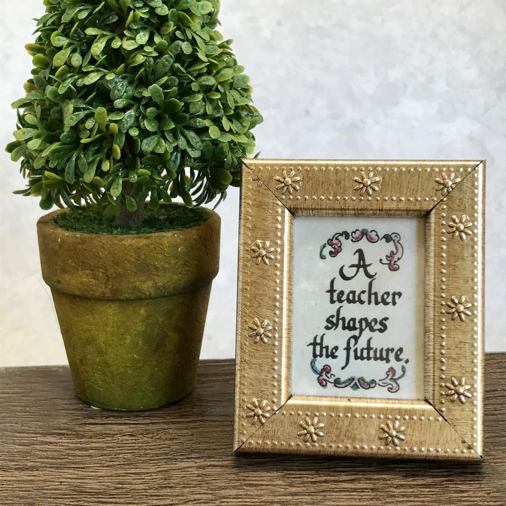 Teacher framed calligraphy More Than Words Gift Shop Germantown Memphis TN
