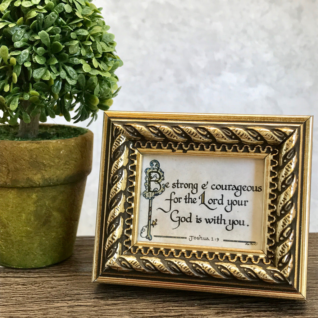 Be Strong frame calligraphy by More Than Words Germantown Memphis TN Gift Boutique