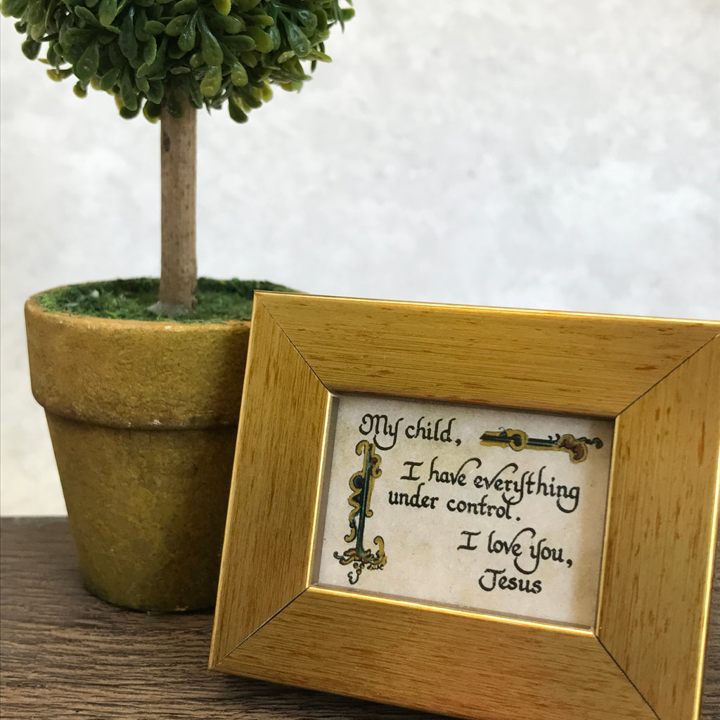My Child Biblical framed calligraphy from More Than Words Gift Boutique Germantown Memphis TN
