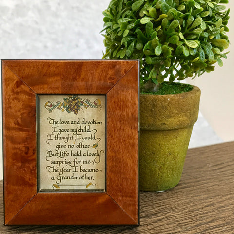 Grandmother framed calligraphy from More Than Words Gift Boutique in Memphis TN