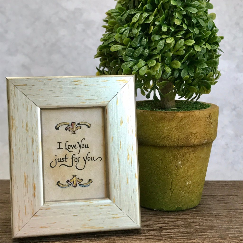 I love you gift for him or her framed calligraphy Memphis Boutique