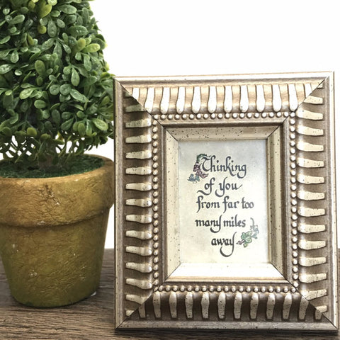 Framed calligraphy too many miles away long distance gift boutique gifts for her gifts for him