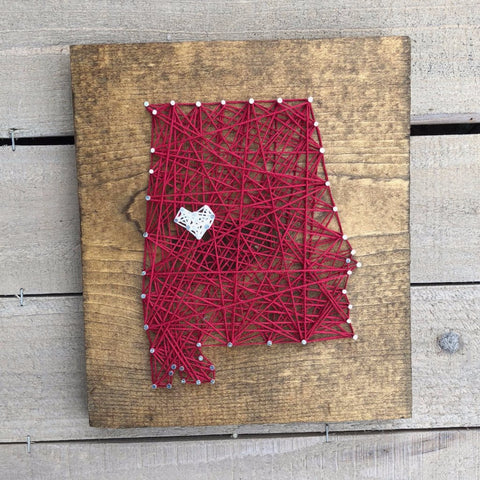I Love Tuscaloosa String Art
