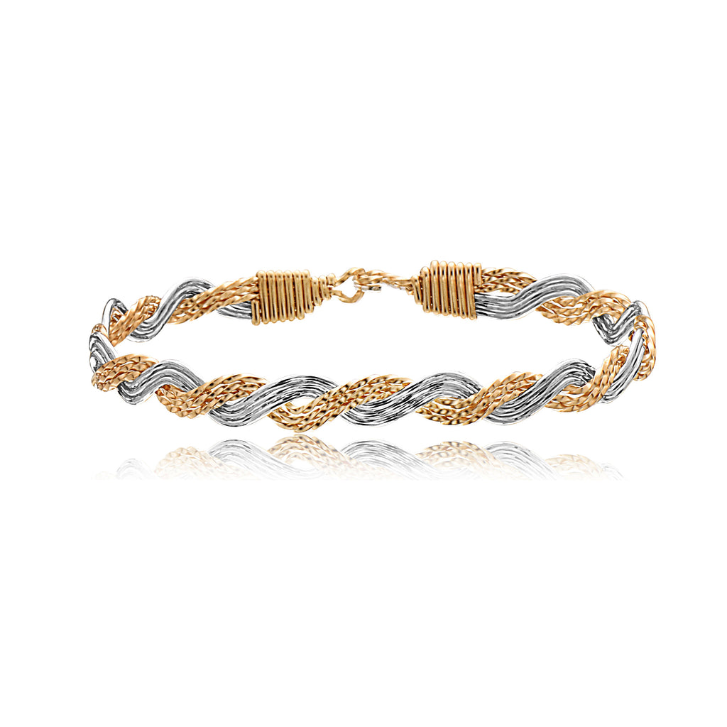 Ronaldo Stackable bracelet Pure love silver and gold