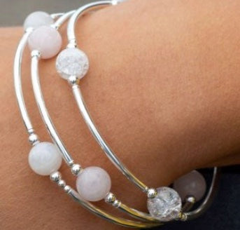 8mm Snowflake Quartz Blessing Bracelet