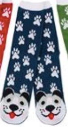 Dog Face Paw Print Socks 40030