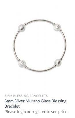 8 mm White Pearl Blessing Bracelet