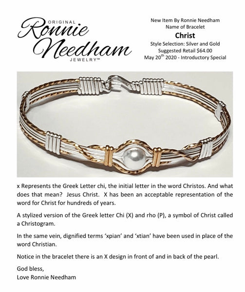 "The ""Christ"" Bracelet by Ronnie Needham"