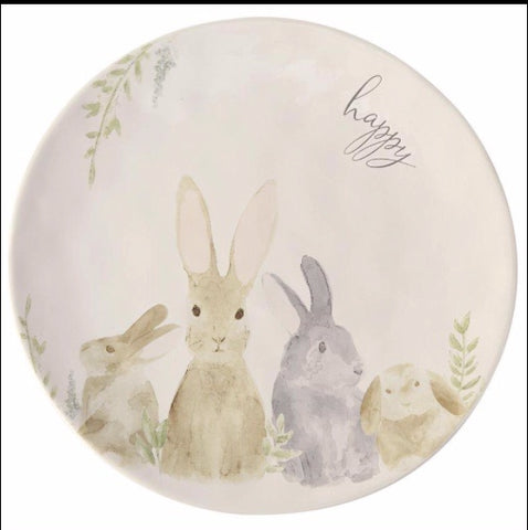 Watercolor Bunny Cheese Plate