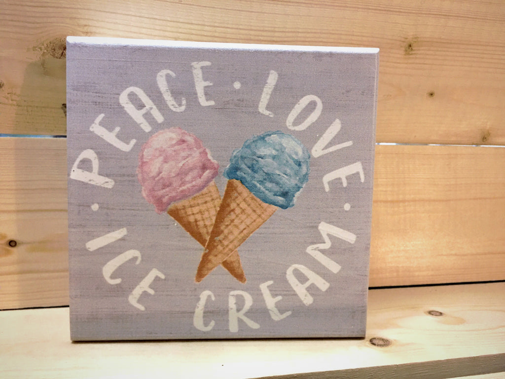 Ice Cream Wood Block