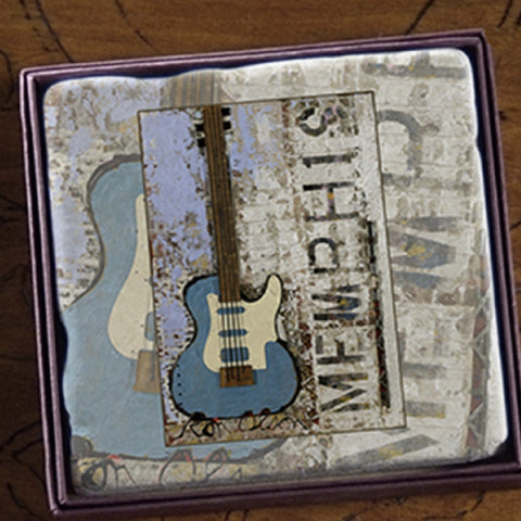 Marble Coaster Memphis Galaxy Guitar Art Ron Olson