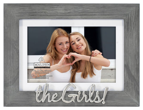 The Girls Gray Distressed Frame