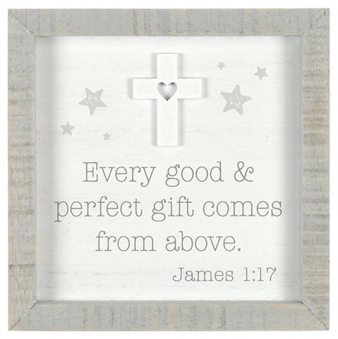 James 1:17 Wood Block