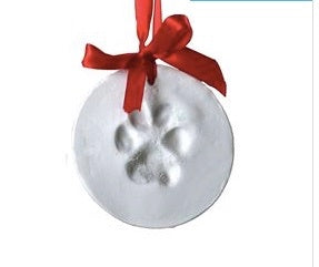 Paw Print Ornament Kit Plaster