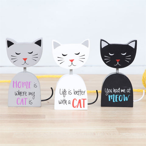 Cat Sayings Block Sign