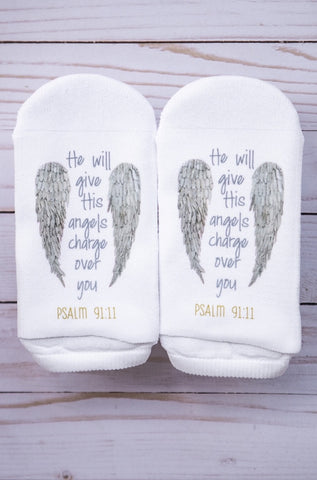 Socks He will give His angels charge over you  Psalm 91:11