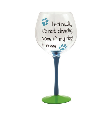 Not Drinking Alone Wine Glass