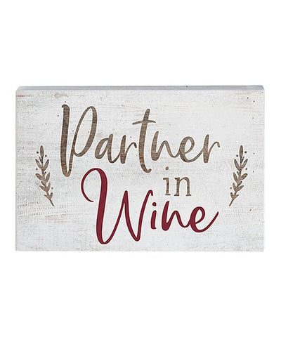 Partner in Wine Wood Block