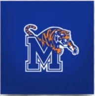 MAGNET U OF M MEMPHIS TIGERS 2 X 3