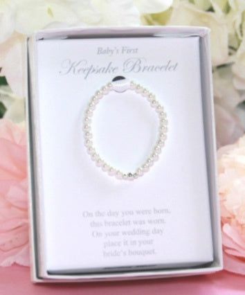 Infant First Pearl Bracelet/Bride Keepsake