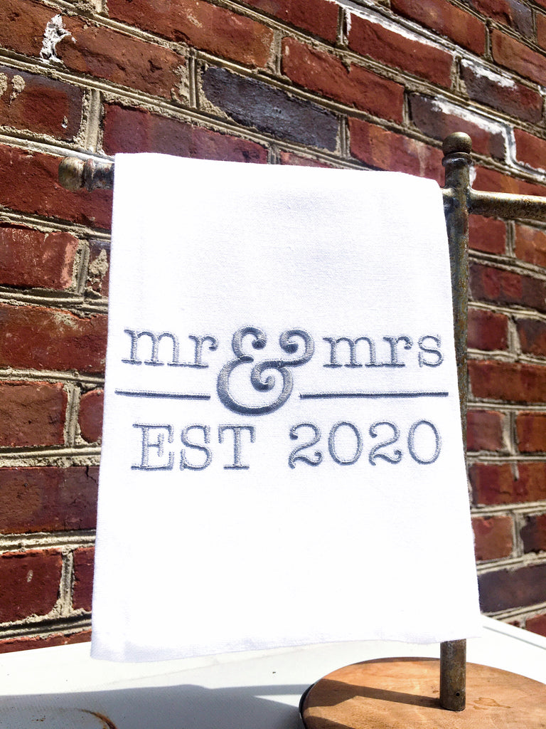 Mr & Mrs Est 2020 Kitchen Towel