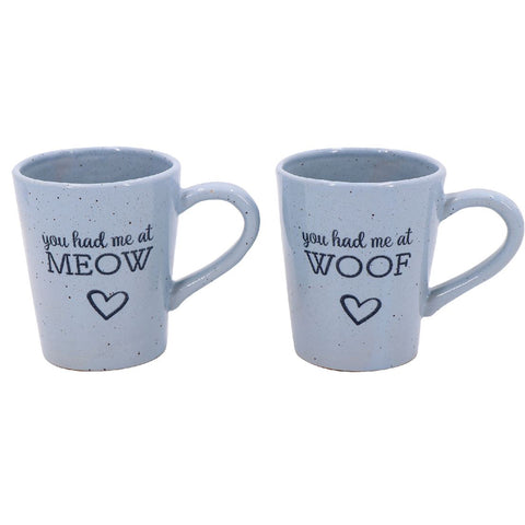 Meow / Woof Pet Mugs