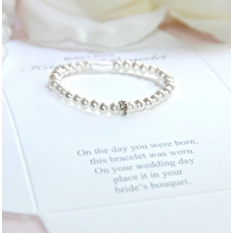 Infant First Bracelet/Bride Keepsake Crystal Pearl