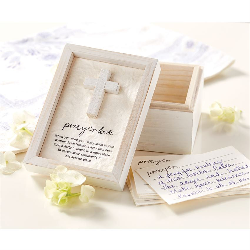White Wooden Prayer Box