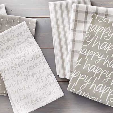 Happy everything kitchen towel Set
