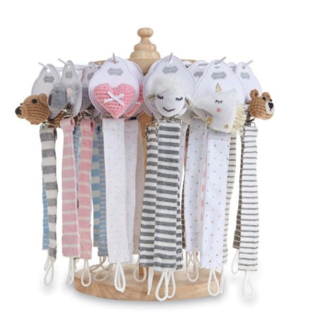 Knit Pacy Clip Assorted