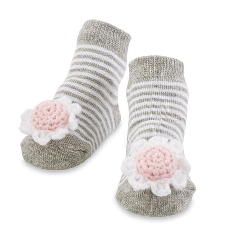 Flower Rattle Toe Socks