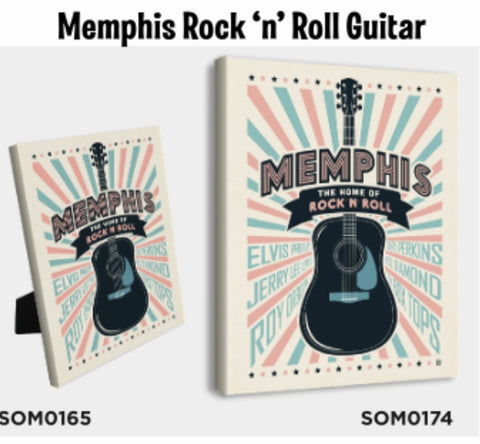 Canvas Memphis rock and roll guitar spirit of Memphis