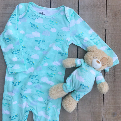 Jammie and Teddy Bear Set 0-6mo
