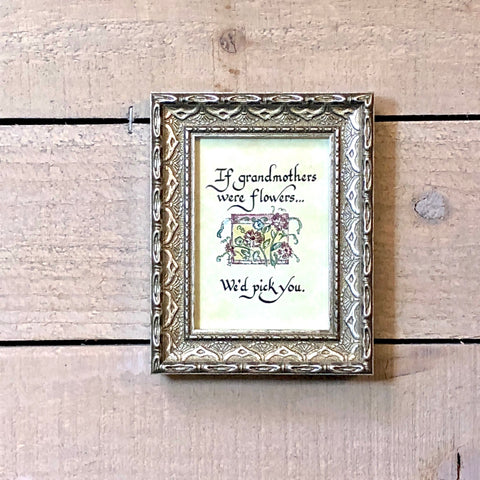 Framed Grandmother Calligraphy