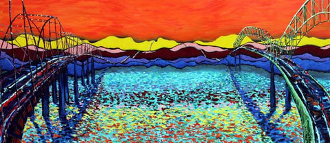PRINT MS RIVER SUNSET David Lynch