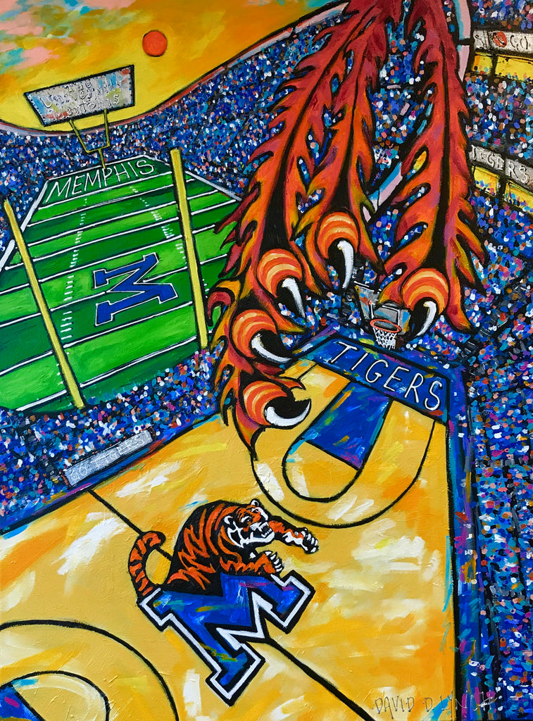 Memphis Tiger Town 2.0 David Lynch Go Tigers 901 U of M Memphis