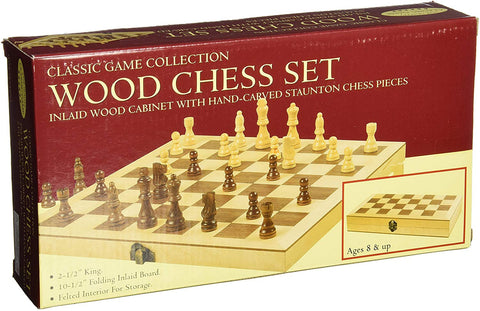 "10.5"" WOOD CHESS SET (HANSEN  Classic Game Collection)"