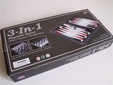3 in 1 Chess/Checkers/Backgammon 12.5''